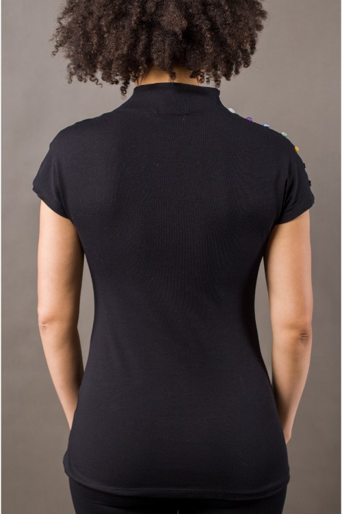 crystal shirt black back