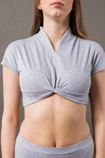 Phanes fashion spiral top gray front