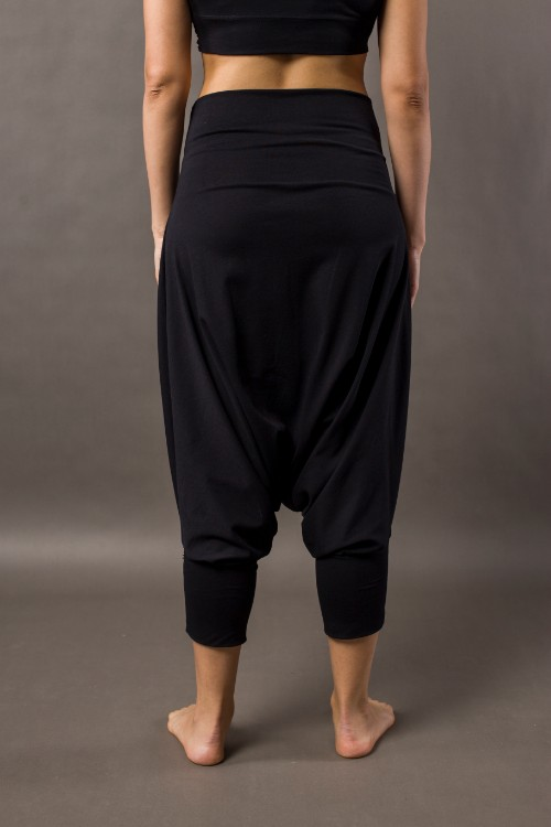 Phanes fashion baggy pants black back