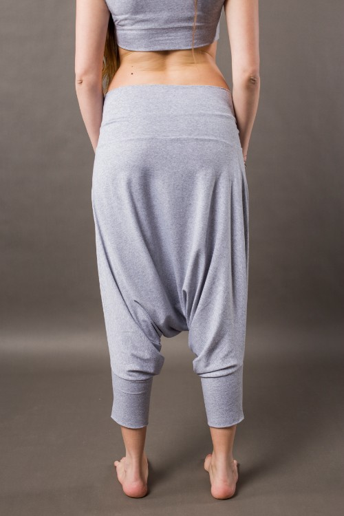 Phanes fashion baggy pants gray back
