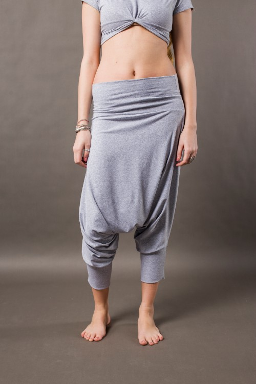 Phanes fashion baggy pants gray front