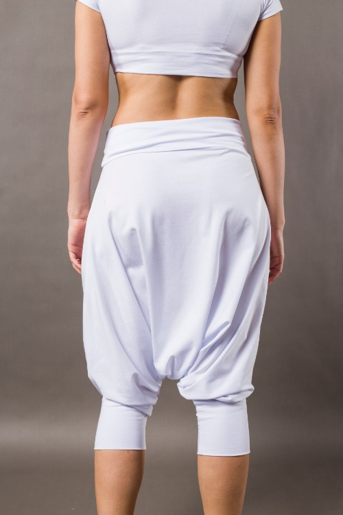 Phanes fashion baggy pants white back