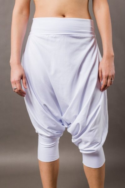 Phanes fashion baggy pants white front