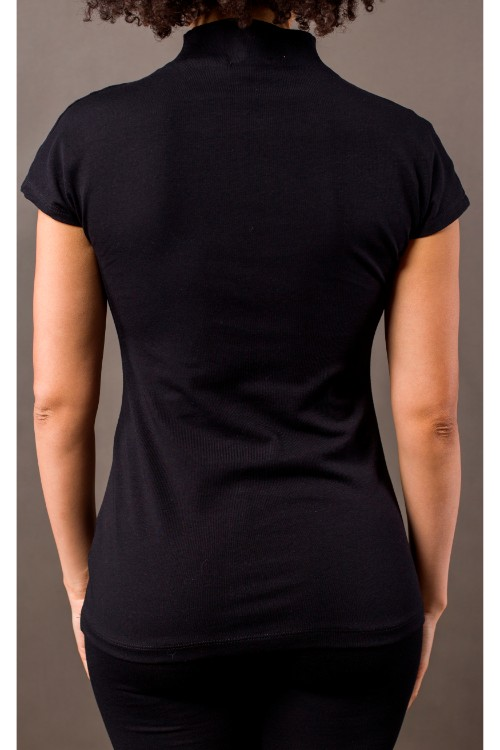 Phanes fashion chakra shirt black silver back