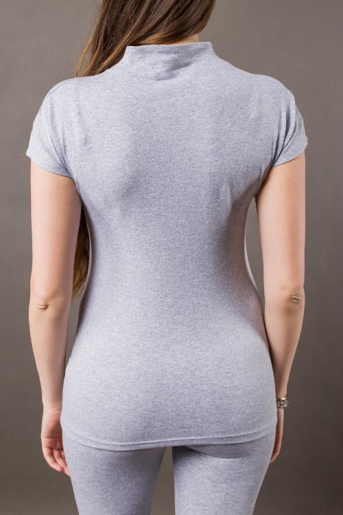 Phanes fashion chakra shirt gray silver back